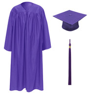 Purple Kinder Cap, Gown & Tassel