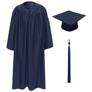 Navy Kinder Cap, Gown & Tassel