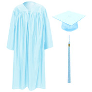 Light Blue Kinder Cap, Gown & Tassel