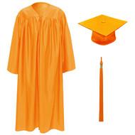 Orange Kinder Cap, Gown & Tassel