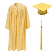 Antique Gold Kinder Cap, Gown & Tassel