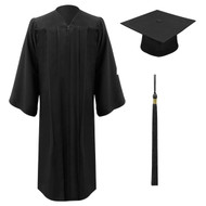 Black Freedom Cap, Gown & Tassel