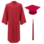 Red Freedom Cap, Gown & Tassel
