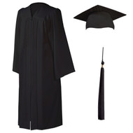 U-Black Cap, Gown & Tassel