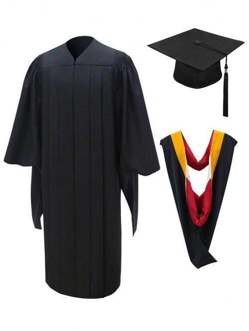 MASTER Deluxe Cap, Gown, Tassel & Hood - University Cap & Gown