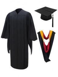 MASTER Deluxe Cap, Gown, Tassel & Hood