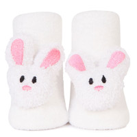 Baby socks with Shaker attachment in the shape of a bunny