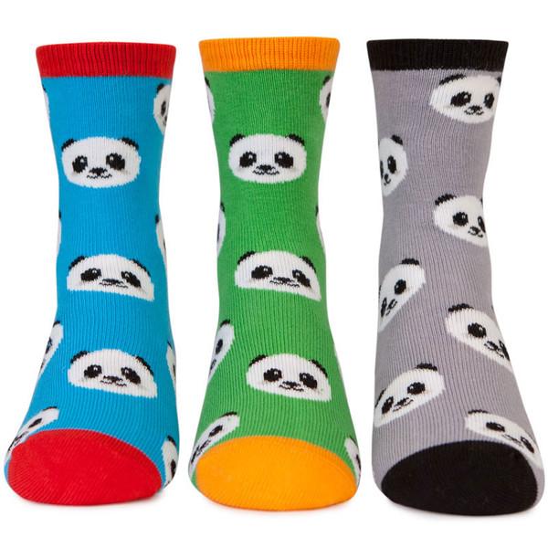 Kid's socks with panda designs, 3 pack