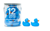 12 Blue Rubber Ducks great for bathtime or play