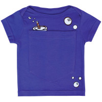 Big Pocket t-shirt with soda can and bubbles designs.  For babies ages 0 - 6 months