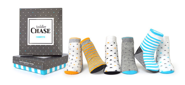 6 pairs of cotton socks in gift box for Toddlers ages 12 - 24 Months