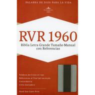 Biblia RVR 1960 Letra grande Tamaño Manual con Referencias (Gris)