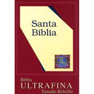 Biblia ultrafina tamaño bolsillo LBLA (Cremallera) | UltraThin Compact Bible LBLA (Zipper)