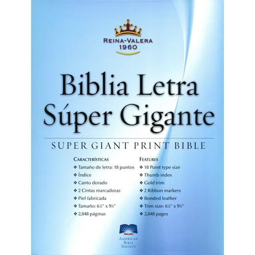 Biblia Super Gigante, 17pt, RVR60 Imitación Piel NUEVA, Imitación Piel Negra #40