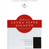 RVR 1960 Biblia Letra Súper Gigante, negro piel fabricada | RVR 1960 Giant Print, black