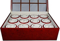 TOP QUALITY WOOD WATCH WINDER STORAGE BOX 12 WINDERS for 24 WATCHES