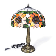 "Tiffany style 16"" two Light Sunflower Table Lamp 1449B-16T"