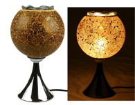 Electric Mosaic Oil Wax Warmer Fragrance Lamp with Dimmer (2-Gold)