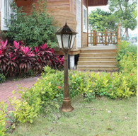 4 feet 2 inch outdoor solar powered lamp post with HIGH Bright LED Lights SL-6907bronze1.5m