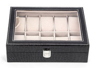 Kendal Watch Case Display Box With Clear Top Holds 10 Watches