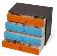 Kendal Large Fashion Leather Jewelry Box / Case / Storage LJC-4+4DR
