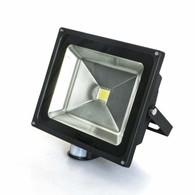 LED Dawn Light Sensor, Motion Activated Protection Spotlight Wash Garden Outdoor Wall Waterproof Flood Light (Black 50-Watt)