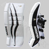 Vaughn V7 VPG XF Youth Hockey Goalie Leg Pads - White/Black