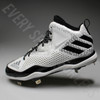 Adidas Power Alley 4 Mid Metal Baseball Cleat Q16581 - White/Black