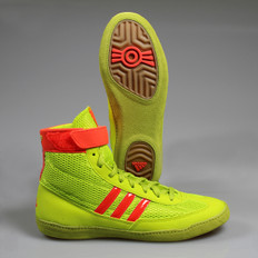 Adidas Combat Speed 4 Wrestling Shoes - Yellow / Red / Gum