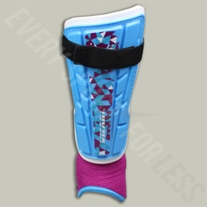 Vizari Frost Soccer Shin Guards - Blue and Pink