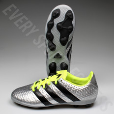 Adidas Ace 16.4 FxG Junior Soccer Cleat S42142 - Silver/Black/Yellow