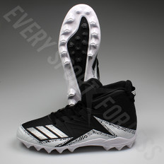 Adidas Freak Mid MD Senior Football/Lacrosse Cleats BY3874 - Black/Silver/White