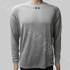 Under Armour Locker Tee LS Youth Athletic Shirt - Gray