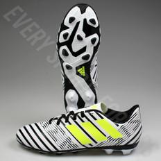 Adidas Nemeziz 17.4 FxG Junior Soccer Cleats - White/Solar Yellow/Core Black