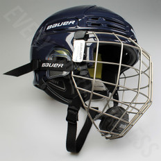 Bauer Re-AKT 75 Combo Senior Hockey Helmet - Navy Blue