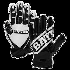 Battle Ultra Stick Junior Football Receiver Gloves - Black/White