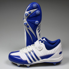 Adidas Brute Force 2 Mid D Lacrosse Cleats - White / Royal