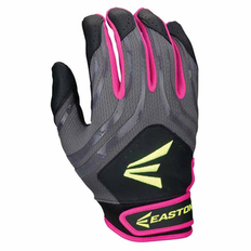 Easton HF3 Youth Hyperskin Batting Gloves - Black/Grey/Pink
