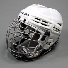 Bauer IMS 5.0 Ice Hockey Helmet Combo - White