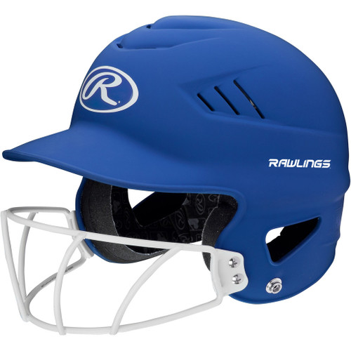Rawlings Highligter Softball Batting Helmet with Mask - Royal