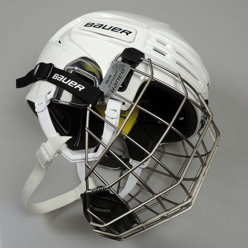 Bauer Hockey RE-AKT 75 Helmet with Cage - White
