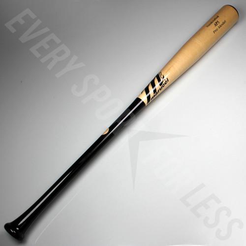 Marucci AP5 Pro Maple Wood Bat - Black and Natural