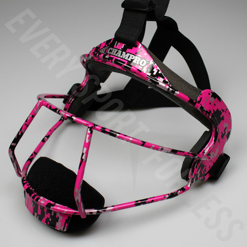Champro The Grill Softball Fielders Mask Adult - Pink Camo