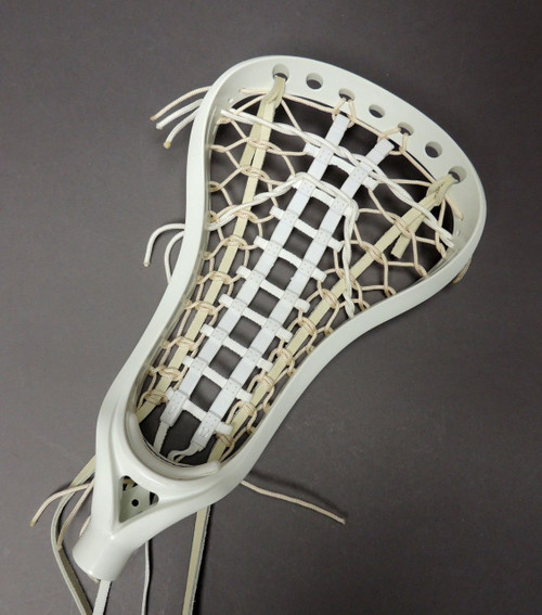 Brine A1 Women's Lacrosse Strung Head Paramount Pocket - White