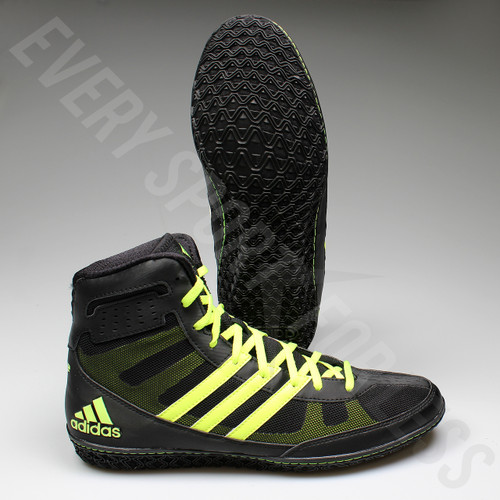 Adidas Mat Wizard 3 Wrestling Shoes S77969 - Black/Yellow
