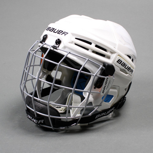 Bauer Prodigy Youth W/ Cage Ice Hockey Helmet Combo - White