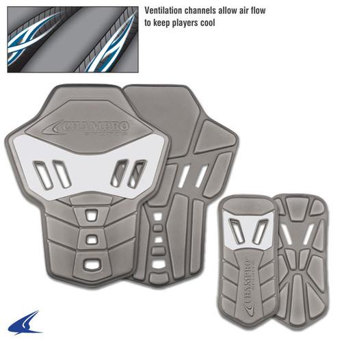 Champro Infinity Varsity Football  Hip and Tail Pads - Grey