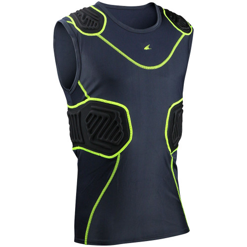 Champro Bull Rush Adult Compression Shirt - Charcoal Black