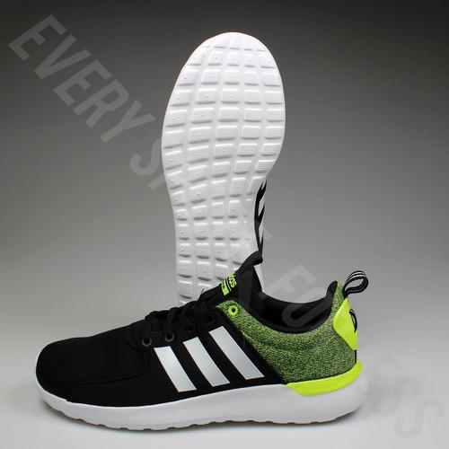 Adidas Cloudfoam Lite Racer AW4030 Men's Running Shoe - Black/White/Yellow