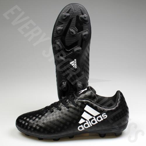 Adidas X 16.4 FxG Junior Soccer Cleats BB1045 - Black/White/Black